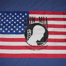 POW MIA on an American Flag 3x5 Vietnam Veterans Vets