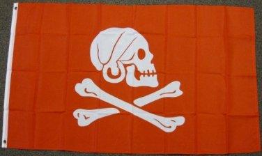 Henry Avery Pirate Flag 3x5 feet Crimson Red Every banner Skull & Cross Bones