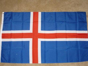 Iceland Flag 3x5 feet Icelandic ice land banner sign