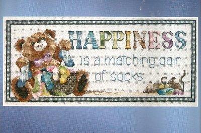 **Janlynn -Happiness is a Matching Pair of Socks Cross Stitch KIT