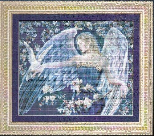 **IN BLUE ANGEL Cross Stitch Pattern Kustom Krafts 2004