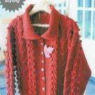 **Knit MADDY LAINE Heart n' Bobbles Cardigan Pattern