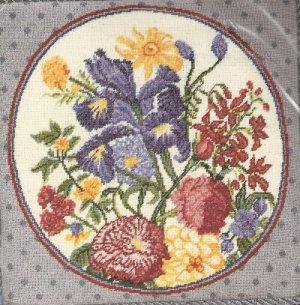 **Iris Floral  Flower Needlepoint KIT Bucilla 2003
