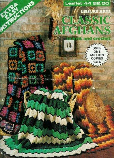 **Crochet/Knit Afghan Patterns - 2 Classic Crochet/1 Knit Pattern