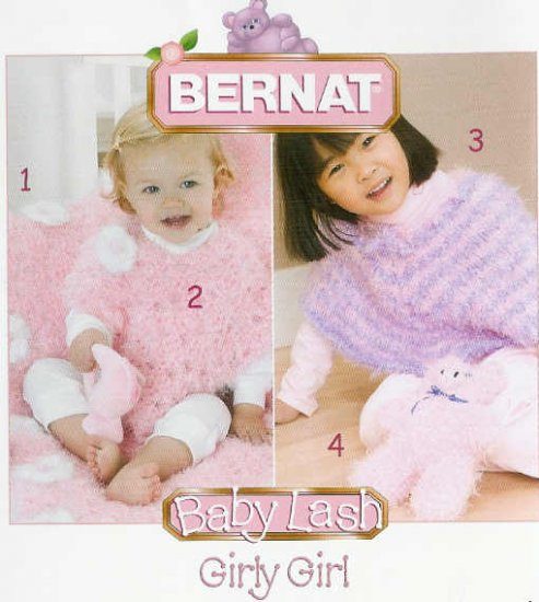 Crochetknit Bernat Baby Poncho Pattern Toy Pig Daisy Edge Blanket