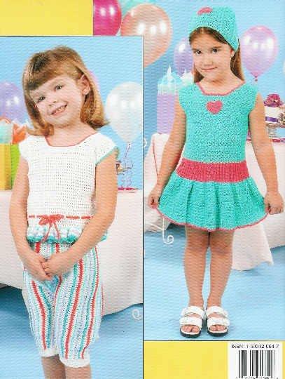 **Crochet Pattern SUMMER SWEETIES Wardrobe for Little Girls