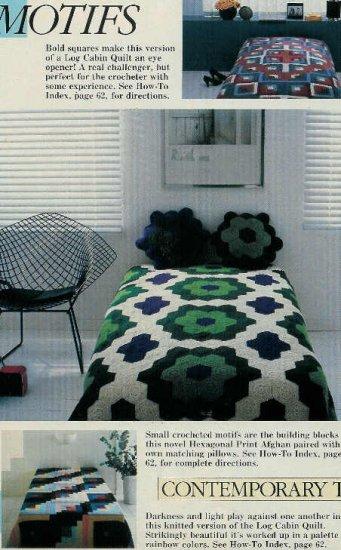 **GRANNY SQUARES Magazine - *15* Afghan/Bedspread Patterns PLUS *