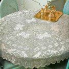 "**Crochet Fantasy Magazine - Birds & Butterflies - 44"" Diameter Pattern *"