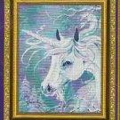 **Unicorn CROSS STITCH Kustom Krafts WINTER UNICORN 2002 *