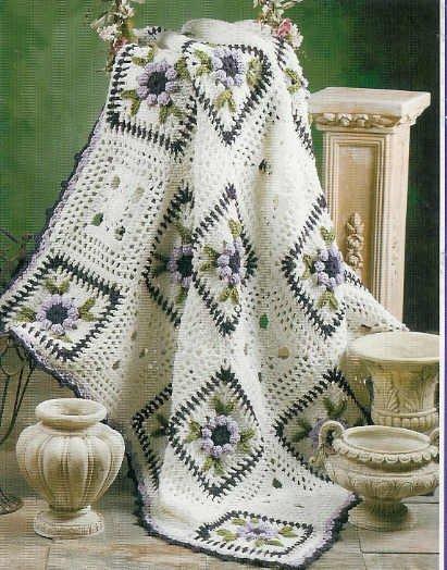 **Crochet * 8 * Annie's Attic Dynamic Decor AFGHAN Patterns