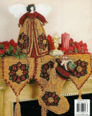 **Christmas Crochet * 9 * Annie's Attic HOLIDAY HOME Patterns TREE Skirt +Christmas Afghan