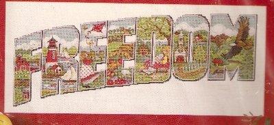 **Counted Cross Stitch KIT FREEDOM Collage JOAN ELLIOTT
