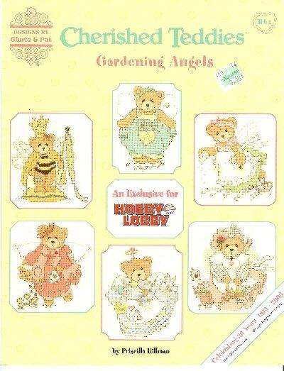 OOP ** 6 * Cross Stitch Patterns - Cherished Teddies - Gardening Angels Gloria & Pat