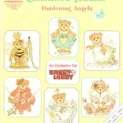 OOP ** 6 * Cross Stitch Patterns - Cherished Teddies - Gardening Angels Gloria & Pat