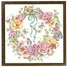 **Just-A-Chart Cross Stitch ROSE WREATH  Janlynn Barbara Baatz