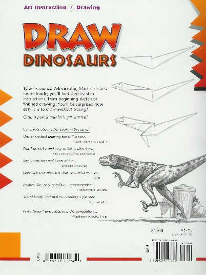 **Painting Book - Drawing * 24 * Dinosaurs Art Book by Doug DuBosque  $3.49 NEW