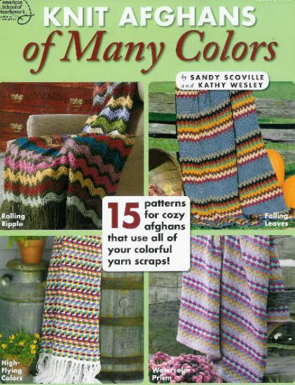 15 Knit Scrap Afghan Patterns California Sunset