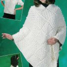 **Crochet Annie's Attic ARAN Dog Sweater PONCHO Shawl *5* Patterns