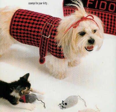 **Crochet Herrschners DOG COAT Ornaments CAPS & Scarfs
