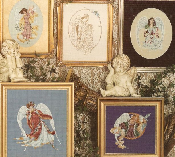 ** In The Company Of Angels 5 Cross Stitch Designs 1997