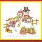 **Cross Stitch Pattern BOBBIE G. DESIGNS Snowman Family