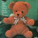 "Crochet DIAMOND Afghan Pattern - TEDDY BEAR 11"" tall"