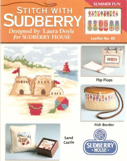 Stitch With Sudberry House - SUMMER FUN 3 Cross Stitch Patterns
