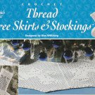 Annie's Attic CHRISTMAS Tree SKIRTS and Stockings in Thread