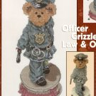 Boyds Bears Cross Stitch  OFFICER GRIZZLEY - LAW AND ORDER
