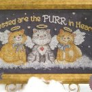 CAT Counted Cross Stitch KIT  Blessed are the  Purr In Heart