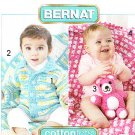 *Crochet BERNAT Cuddle Ups for Girls and Boys BEAR Toy