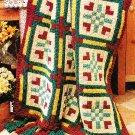 *Crochet Home Magazine - Floral Block Afghan - Placemats/Potholder