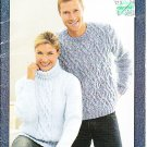 Crochet/Knit Bernat Aran Sweaters Family Sweaters Hat and Scarf