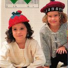 Knit Strawberry Hat - Crocheted Cherry Hat - Cross Stitch Berries PLUS