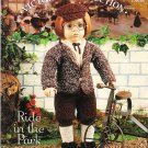 "*Crochet  Vintage American 18"" Doll Pattern - Ride in the Park"