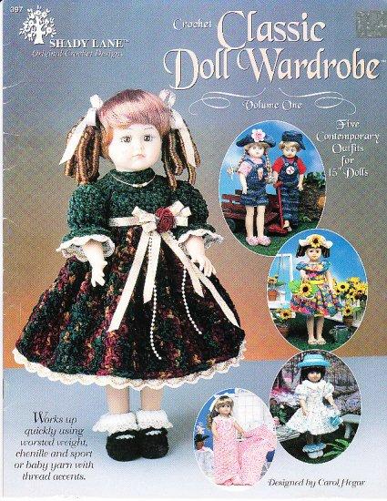 "*CROCHET * 5 * -  Classic 15"" Doll Wardrobe Patterns"