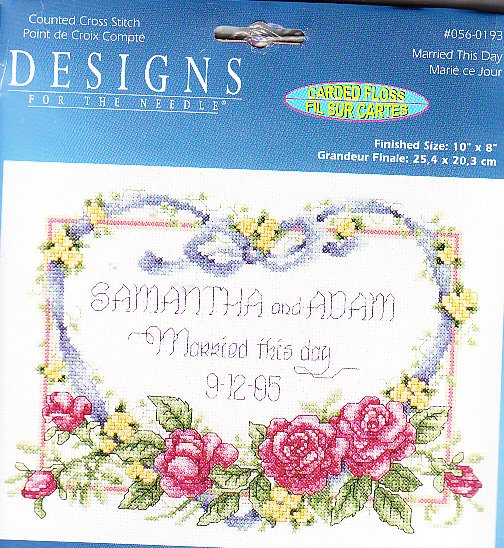 *Cross Stitch KIT WEDDING SAMPLER ~ MARRIED THIS DAY