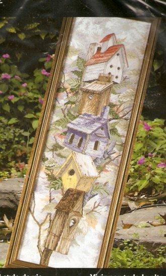 *Birdhouses Cross Stitch KIT ~ LOFTY LIVING FOR BIRDS