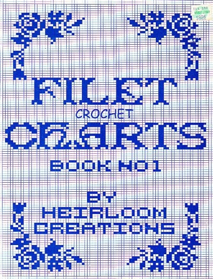 *Filet Crochet Charts Numbers and Alphabets Angels Borders