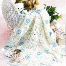 *Crochet Baby Flower Afghan Pattern