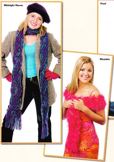 *SCARVES with Attitude - *6* to knit - *5* to Crochet