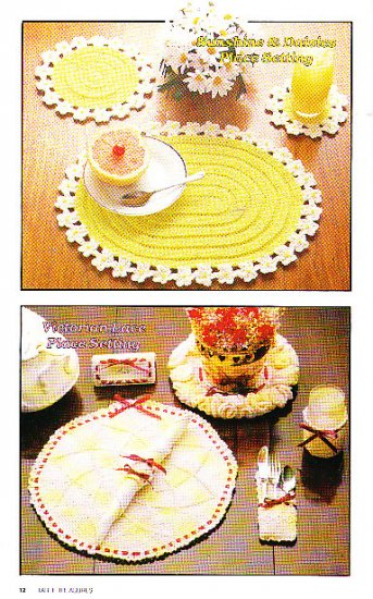 *Annie's Attic VINTAGE Crochet Table Treasures Patterns