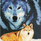 *Cross Stitch KIT MAJESTIC WOLF Wolf in the clouds 2004