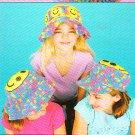*Crochet Ripple Afghan Pattern - Flower Tote - 3 Happy Hats for Kids PLUS