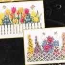 *2 flower Cross Stitch KIT  FLORAL DELIGHT