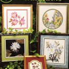 *12 Flower Cross Stitch Patterns  WILDFLOWERS 1991