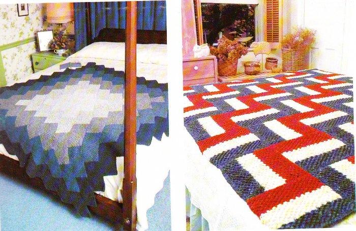*Crochet and Knit * 33 * Afghan Patterns Southwest Design Log Cabin Baby