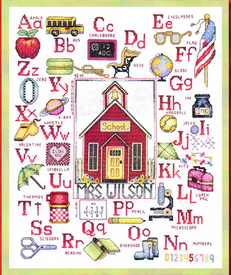 *Cross Stitch Pattern BOBBIE G. DESIGNS ~ MY TEACHER