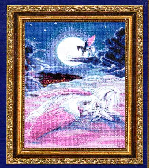 *Unicorn CROSS STITCH Kustom Krafts WHEN CHILDREN DREAM 2001