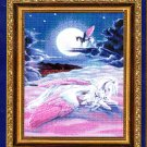 *Unicorn CROSS STITCH Kustom Krafts WHEN CHILDREN DREAM 2001